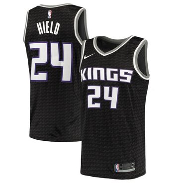 Nike Kings #24 Buddy Hield Black NBA Swingman Statement Edition Jersey