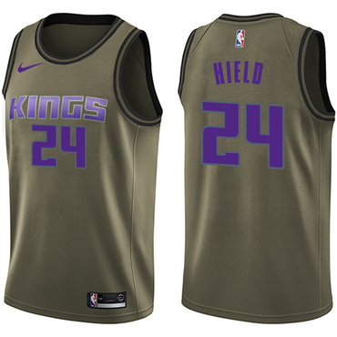 Nike Kings #24 Buddy Hield Green Salute to Service NBA Swingman Jersey