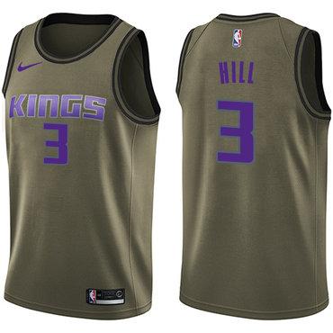 Nike Kings #3 George Hill Green Salute to Service NBA Swingman Jersey