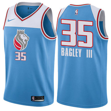 Nike Kings #35 Marvin Bagley III Blue NBA Swingman City Edition Jersey