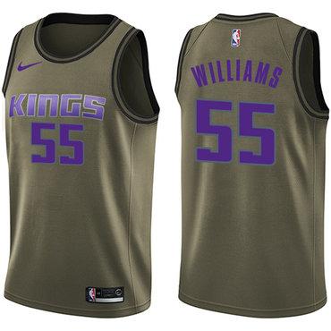Nike Kings #55 Jason Williams Green Salute to Service NBA Swingman Jersey