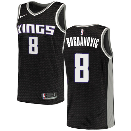 Nike Kings #8 Bogdan Bogdanovic Black NBA Swingman Statement Edition Jersey