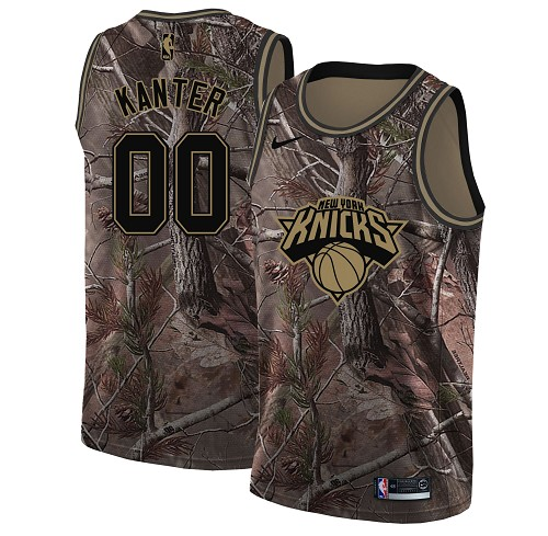 Nike Knicks #00 Enes Kanter Camo NBA Swingman Realtree Collection Jersey