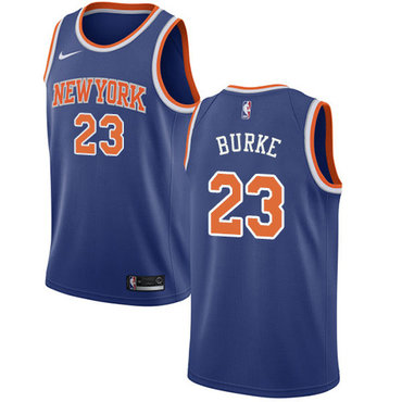 Nike Knicks #23 Trey Burke Blue NBA Swingman Icon Edition Jersey