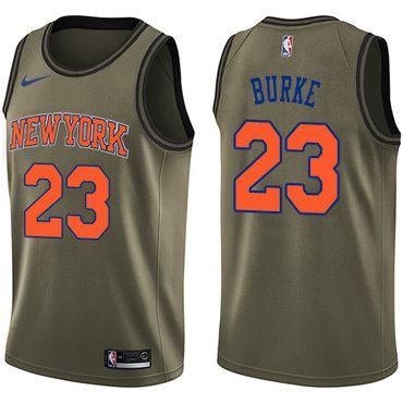 Nike Knicks #23 Trey Burke Green NBA Swingman Salute to Service Jersey