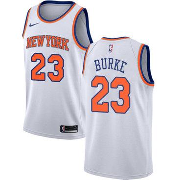 Nike Knicks #23 Trey Burke White NBA Swingman Association Edition Jersey