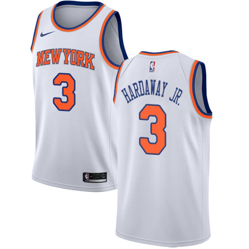 Nike Knicks #3 Tim Hardaway Jr. White NBA Swingman Association Edition Jersey