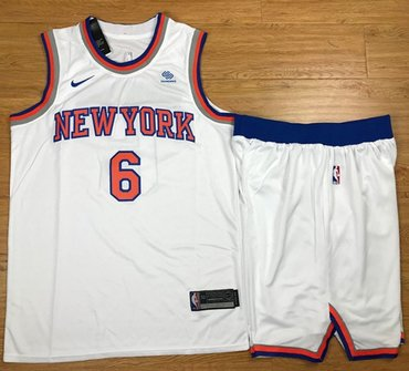Nike Knicks #6 Kristaps Porzingis White A Set Youth NBA Swingman Association Edition Jersey