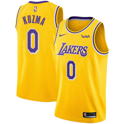 Nike Lakers #0 Kyle Kuzma Gold Youth NBA Swingman Icon Edition Jersey