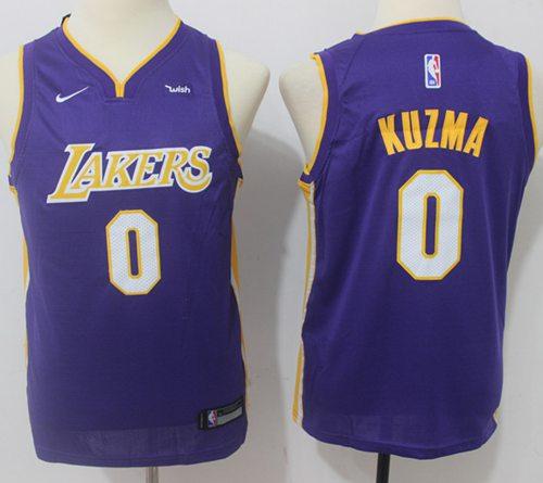 Nike Lakers #0 Kyle Kuzma Purple Statement Edition Youth NBA Swingman Jersey