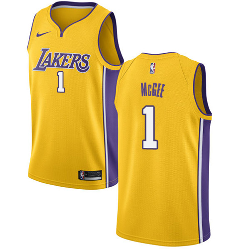 Nike Lakers #1 JaVale McGee Gold NBA Swingman Icon Edition Jersey