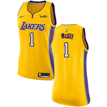 Nike Lakers #1 JaVale McGee Gold Women's NBA Swingman Icon Edition Jersey