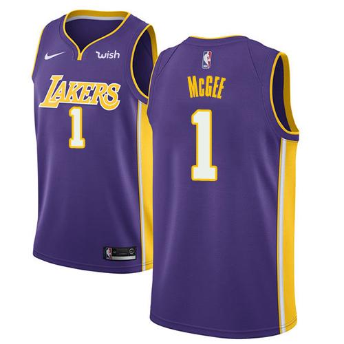 Nike Lakers #1 JaVale McGee Purple Youth NBA Swingman Statement Edition Jersey