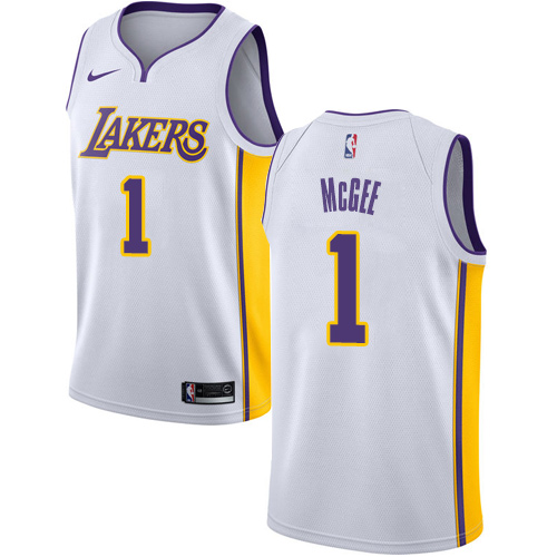 Nike Lakers #1 JaVale McGee White NBA Swingman Association Edition Jersey