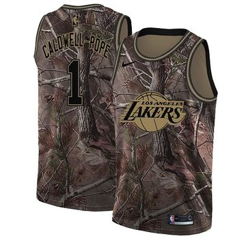 Nike Lakers #1 Kentavious Caldwell-Pope Camo NBA Swingman Realtree Collection Jersey