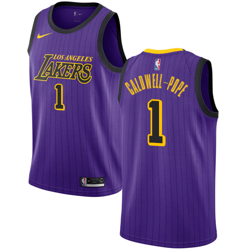 Nike Lakers #1 Kentavious Caldwell-Pope Purple NBA Swingman City Edition 2018 19 Jersey