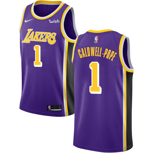 Nike Lakers #1 Kentavious Caldwell-Pope Purple NBA Swingman Statement Edition Jersey