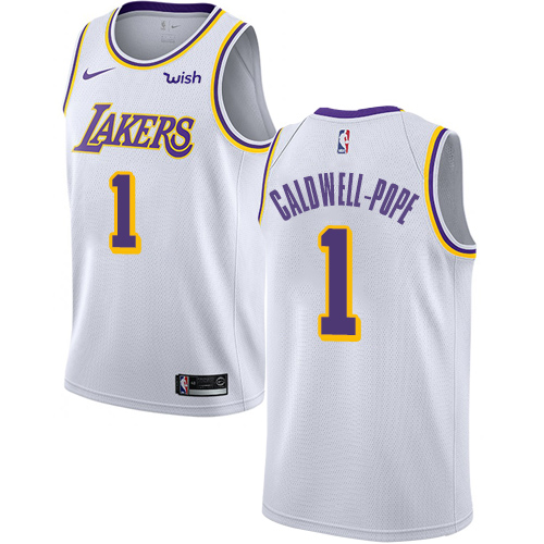 Nike Lakers #1 Kentavious Caldwell-Pope White NBA Swingman Association Edition Jersey