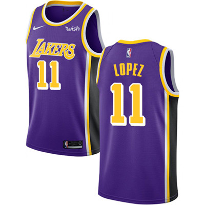 Nike Lakers #11 Brook Lopez Purple NBA Swingman Statement Edition Jersey