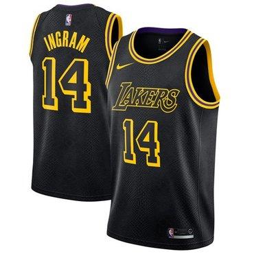 Nike Lakers #14 Brandon Ingram Black NBA Swingman City Edition Jersey