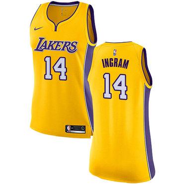 Nike Lakers #14 Brandon Ingram Gold Women's NBA Swingman Icon Edition Jersey