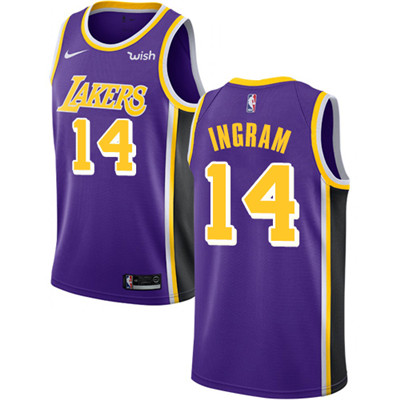 Nike Lakers #14 Brandon Ingram Purple NBA Swingman Statement Edition Jersey