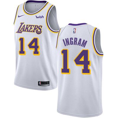 Nike Lakers #14 Brandon Ingram White NBA Swingman Association Edition Jersey