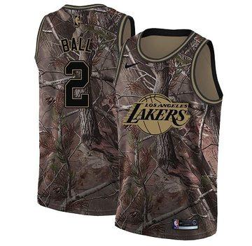Nike Lakers #2 Lonzo Ball Camo NBA Swingman Realtree Collection Jersey