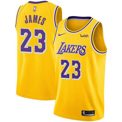 Nike Lakers #23 LeBron James Gold Women's NBA Swingman Icon Edition Jersey