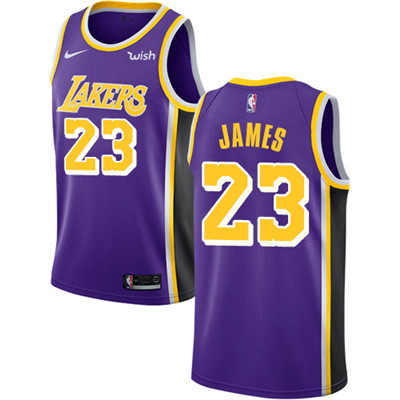 Nike Lakers #23 LeBron James Purple NBA Swingman Statement Edition Jersey