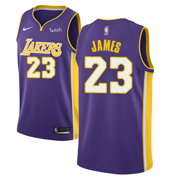 Nike Lakers #23 LeBron James Purple Youth NBA Swingman Statement Edition Jersey