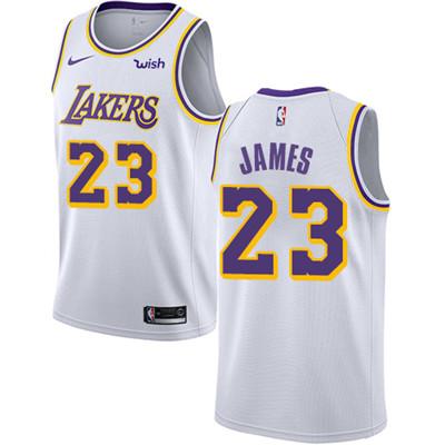 Nike Lakers #23 LeBron James White Women's NBA Swingman Association Edition Jersey