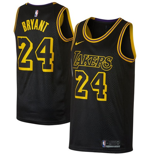 Nike Lakers #24 Kobe Bryant Black NBA Swingman City Edition Jersey