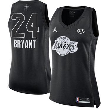 Nike Lakers #24 Kobe Bryant Black Women's NBA Jordan Swingman 2018 All-Star Game Jersey