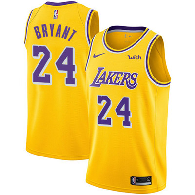 Nike Lakers #24 Kobe Bryant Gold NBA Swingman Icon Edition Jersey