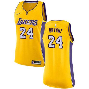 Nike Lakers #24 Kobe Bryant Gold Women's NBA Swingman Icon Edition Jersey