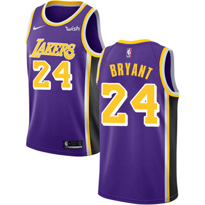 Nike Lakers #24 Kobe Bryant Purple NBA Swingman Statement Edition Jersey