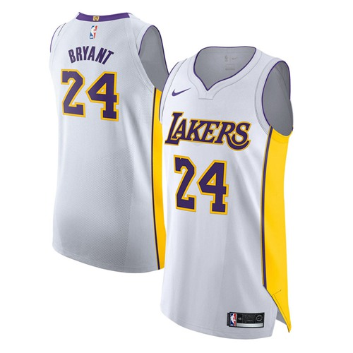 Nike Lakers #24 Kobe Bryant White NBA Authentic Association Edition Jersey