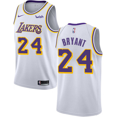 Nike Lakers #24 Kobe Bryant White NBA Swingman Association Edition Jersey