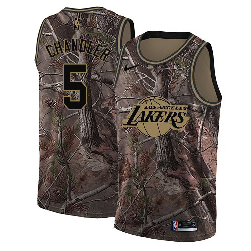 Nike Lakers #5 Tyson Chandler Camo NBA Swingman Realtree Collection Jersey