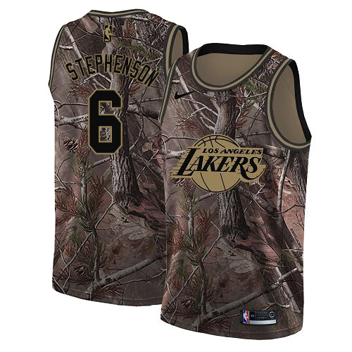 Nike Lakers #6 Lance Stephenson Camo NBA Swingman Realtree Collection Jersey