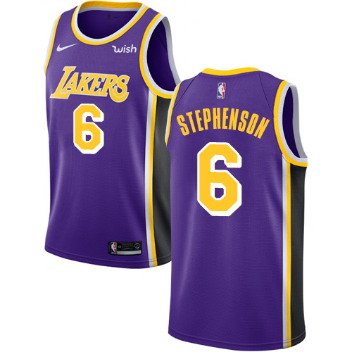 Nike Lakers #6 Lance Stephenson Purple NBA Swingman Statement Edition Jersey