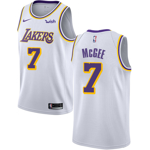 Nike Lakers #7 JaVale McGee White NBA Swingman Association Edition Jersey
