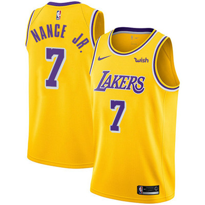 Nike Lakers #7 Larry Nance Jr. Gold NBA Swingman Icon Edition Jersey