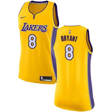 Nike Lakers #8 Kobe Bryant Gold Women's NBA Swingman Icon Edition Jersey