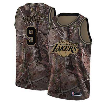 Nike Lakers #9 Rajon Rondo Camo NBA Swingman Realtree Collection Jersey