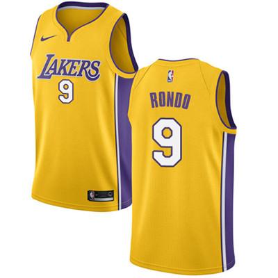 Nike Lakers #9 Rajon Rondo Gold NBA Swingman Icon Edition Jersey