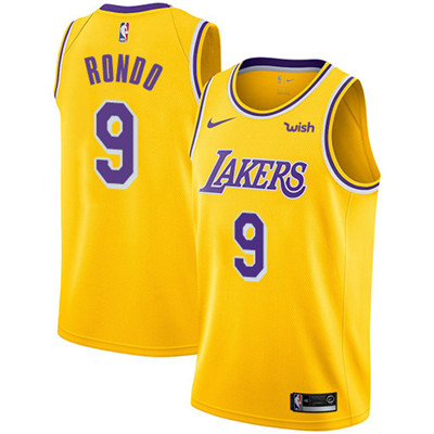 Nike Lakers #9 Rajon Rondo Gold Youth NBA Swingman Icon Edition Jersey