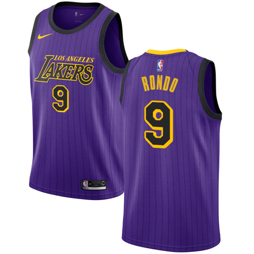 Nike Lakers #9 Rajon Rondo Purple NBA Swingman City Edition 2018 19 Jersey