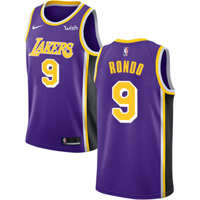 Nike Lakers #9 Rajon Rondo Purple NBA Swingman Statement Edition Jersey